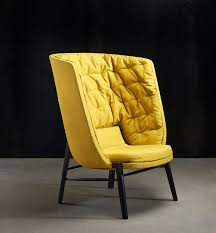 modern yellow lounge chair. extreme high back modern lounge chair yellow