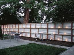 sheet metal fence.  Fence Corrugated Wood Fence  Corrugated Metal And With Lights  Would  Be So Cool In The  And Sheet Metal Fence E