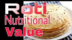 Chapati Calories Chart Hindi Roti Nutritional Value Roti Nutrition Facts How Many Roti Should I Eat