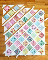 Making An Easy Handmade Baby Quilt Cute Baby Blankets To Make Cute ... & Cute Baby Blankets To Make Baby Quilt Tutorial Perfect For Using 5 Charm  Squares Learn A ... Adamdwight.com