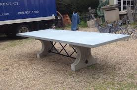 Concrete Top Dining Tables Rt Facts Concrete Base Dining Table With Iron Stretcher And Zinc