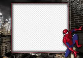 Spiderman Template Photo Frame Template Spiderman Transparent Png Frame Psd
