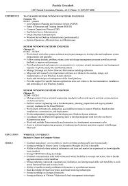 Systems Engineer Job Description Senior Windows Systems Engineer Resume Samples Velvet Jobs 8