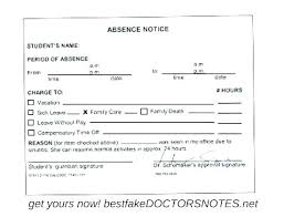 Sick Note For School Fake Doctors With Signature Free Printable