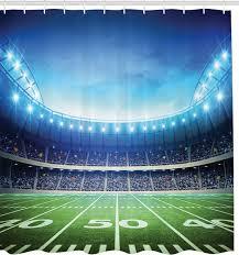 football stadium fabric shower curtain