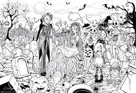 Small Picture Free Printable Halloween Coloring Page Adults Coloring Home