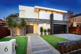 Small Picture A modern front yard for a residential landscape design