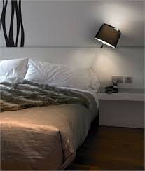 wall lighting for bedroom. Unique For Black Shaded U0026 Chrome Wall Light And Lighting For Bedroom