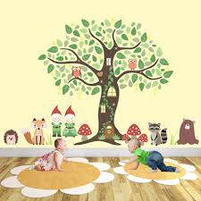 enchanted gnome forest nursery wall art stickers