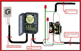 photocell contactor wiring diagram Intermatic Photocell Wiring Diagram 240 Volt