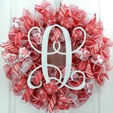 initial wreaths for front doorChristmas Wreaths  Pink Door Wreaths