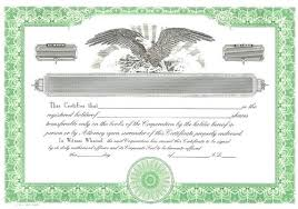 Template For Stock Certificate Corporate Stock Certificate Template Theflawedqueen Com