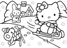 Hello kitty winter themed s1d5c4. Christmas Hello Kitty Playing Snow Coloring Page Hello Kitty Art Christmas Coloring Pages Coloring Pages
