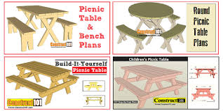 free picnic table plans plans incluse step by step details material list