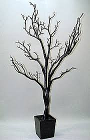 4 Foot Black Tree in Decorative Pot - Bendable Branches