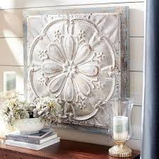 embossed medallion metal wall decor pier 1 imports metal flower wall decor pier