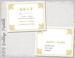 wedding rsvp postcards templates rsvp postcard template download diy gold classic