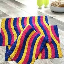 multi colored bath rugs 3 piece cotton color wave x coloured striped mat multi colored bath