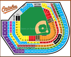 Seating Chart Camden Yards Baltimore Md Oriole Park At Camden Yards Baltimore Md Seating Chart View