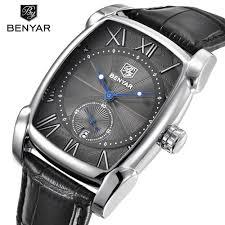 Benyar Square Watch <b>Men Business</b> Watch Waterproof <b>Quartz</b> ...