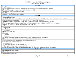 Test Report Template Unique Acceptance Test Report Template Professional Templates 4