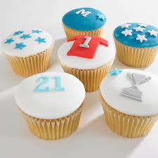 12 Delicious Cupcakes For Him With Sports Theme Fruit Factory