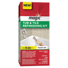 bath tub and tile refinishing kit in white