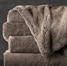 Faux Fur Throw | RH & free shipping Adamdwight.com