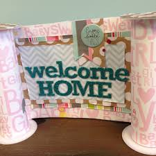 Baby Girl Welcome Home Banner On The Mambi Blog.
