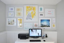 Office wall prints Interior Why Not Cover Your Office Wall With Art Prints Maps Photos Diagrams And Anything Else That Gets Your Brain Pumping Rosegal Artwork Home Office Gallery Walls Apartment Therapy