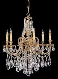 5 lights olde brass crystal chandelier for prepare 10