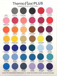 Thermoflex Plus Color Chart