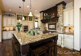 tuscan kitchen design inspiration with track lighting and granite countertop
