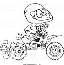 Honda Dirt Bike Coloring Pages From