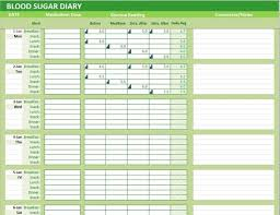 Blood Sugar Tracking Spreadsheet Blood Sugar Diary Excel Template Glucose Levels Tracker Spreadsheet Monthly Medication Symptoms Log Diabetes Journal