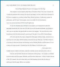 Apa Style Paper 6th Edition Template Example 4121