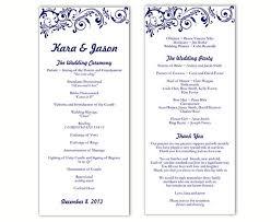 Wedding Day Program Template Natashamillerweb
