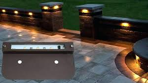low voltage retaining wall lights stunning landscape lighting kits home depot led outdoor ideas 31
