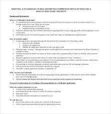 Scholarship Recommendation Letter Sample 27 Letters Of Recommendation For Scholarship Pdf Doc