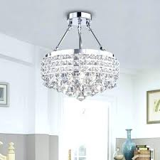 crystal chandelier with shade antique bronze 4 light round crystal chandelier shade chrome semi throughout flush crystal chandelier with shade