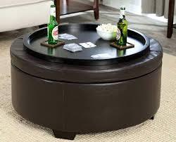 black leather coffee table round ottoman coffee table tray black ottoman coffee table