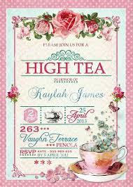 Tea Invitations Printable High Tea Party Invitation Template