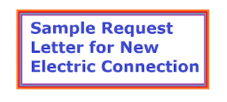 Sample Request Letter For New Electric Connection Electric Meter