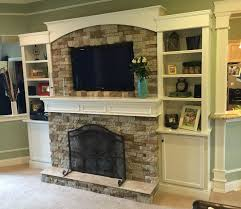 Another view of the finished product. Homemade Airstone gel fuel fireplace
