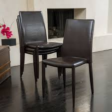 full size of tables chairs modern leather dining chair set brown color includes 4