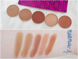 makeup geek eyeshadow review swatches la belle sirene l r latte