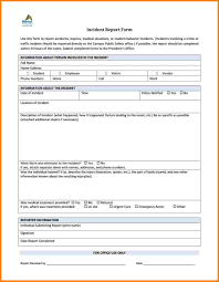 Blank Incident Report Form Police Template Pdf Security Free