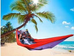 sleeping in hammock 2019 outdoor parachute single camping hammocks