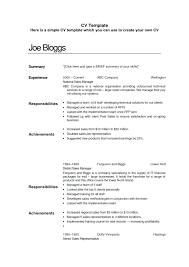 Resume Template For Students With Little Experience Easy Template