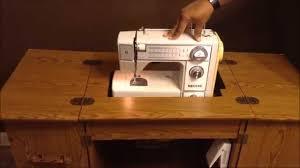 Antique Sewing Machine Table ~ Singer White Neechi Morse Kenmore ... & Antique Sewing Machine Table ~ Singer White Neechi Morse Kenmore Nelco  Janome - YouTube Adamdwight.com